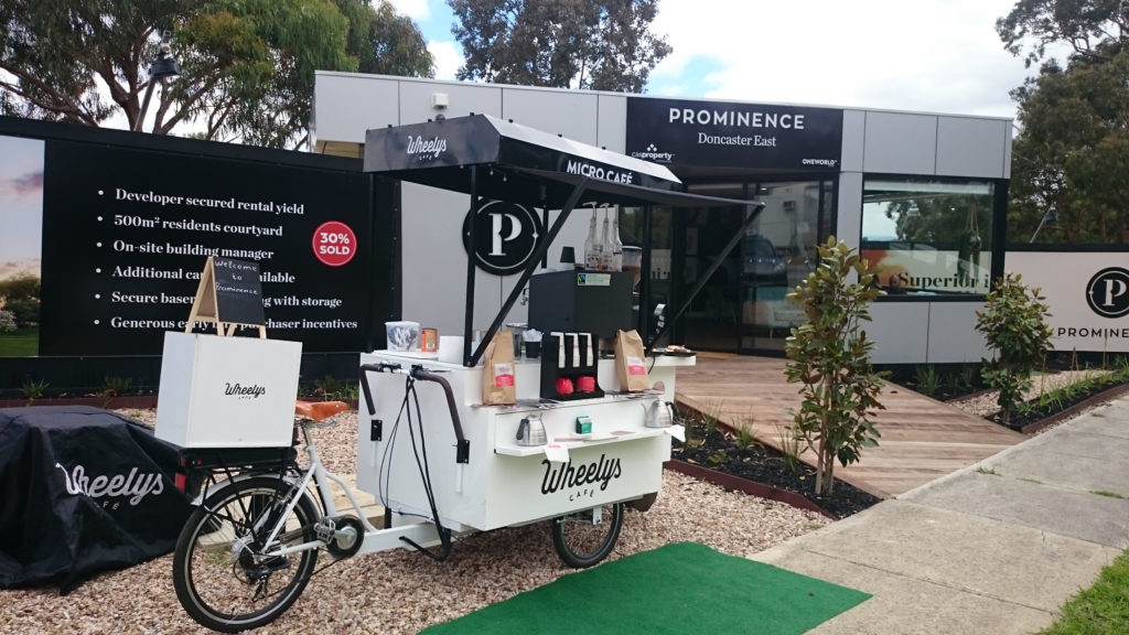white coffee cart for wedding