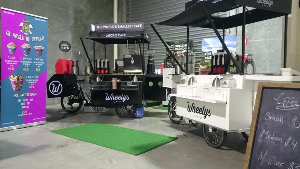 Black & white wheelys bike for wedding