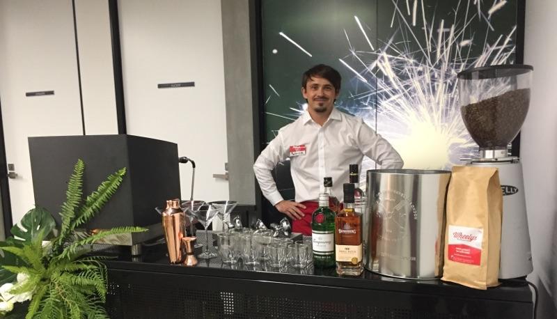 professional barista wedding